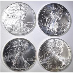 1995, 03, 10 & 2017 BU AMERICAN SILVER EAGLES