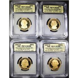 2007-S 4-COIN PRESIDENTIAL SET  ICG PR-70 DCAM