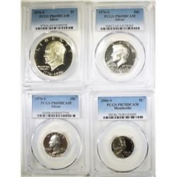 MIXED LOT OF PCGS COINS: