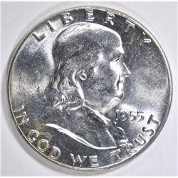 1955 FRANKLIN HALF DOLLAR  GEM BU  FBL