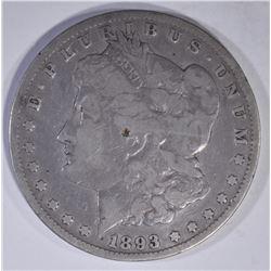 1893-CC MORGAN DOLLAR  DAMAGE  VG/F