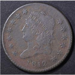 1812 LARGE CENT  VF DARK