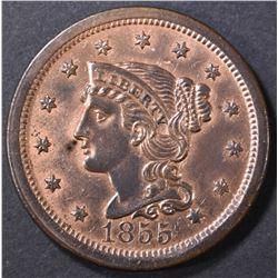 1855 LARGE CENT  CH BU