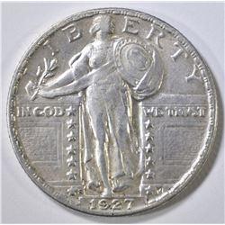 1927-S STANDING LIBERTY QUARTER  AU
