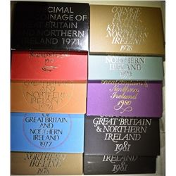 (10) PROOF SETS OF GREAT BRITAIN &