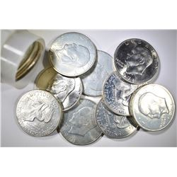 Roll of 1971-S Unc. Eisenhower Silver Dollars