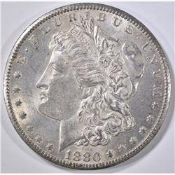 1880-CC MORGAN DOLLAR, AU/BU