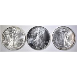1991, 92 & 93 BU AMERICAN SILVER EAGLES