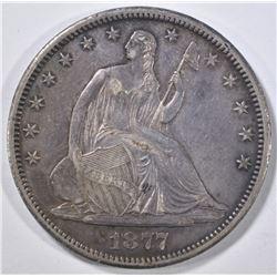 1877-CC SEATED LIBERTY HALF DOLLAR CH AU