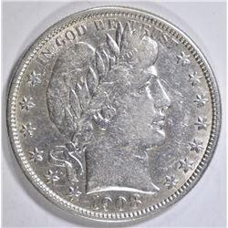 1908-O BARBER HALF DOLLAR  XF/AU