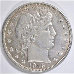 1915-S BARBER HALF DOLLAR CH AU