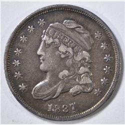 1837 BUST HALF DIME  XF