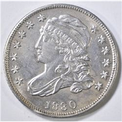 1830 BUST DIME  CH AU