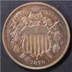 1870 2 CENT PIECE  CH/GEM BU RB