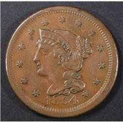 1854 LARGE CENT N-11 AU