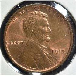 1914 LINCOLN CENT GEM RB STILL A LOT OF RED LEFT