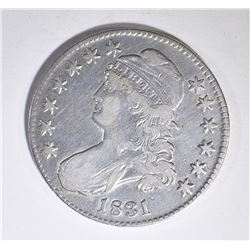 1831 BUST HALF DOLLAR, VF/XF