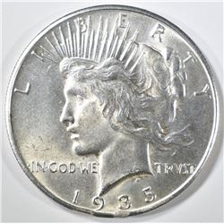 1935 PEACE DOLLAR, CH BU rim bump