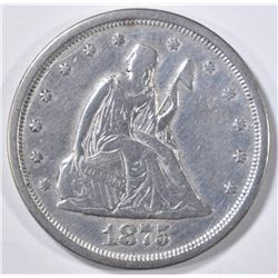 1875-S 20 CENT PIECE XF CLEANED