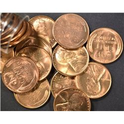 BU ROLL OF 1946-S LINCOLN CENTS, BETTER DATE