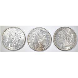 1881-O, 87 & 90 MORGAN DOLLARS AU/BU