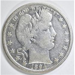 1894-O BARBER HALF DOLLAR  VF