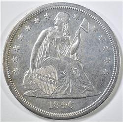 1846-O SEATED DOLLAR  CH AU/UNC