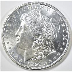 1891 MORGAN DOLLAR  CH/GEM BU
