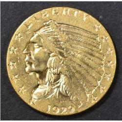 1929 $2.5 INDIAN HEAD  CH BU