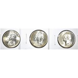 1932, 34 & 35 GEM BU WASHINGTON QUARTERS