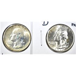 1939 & 39-D GEM BU WASHINGTON QUARTERS