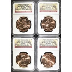 E2008 FIRST SPOUSE BRONZE MEDAL SET NGC GRADED: