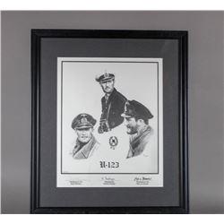 WWII Nazi Autographed Print Officers U-123