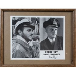 WWII Nazi Erich Topp Autographed Photo