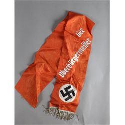 WWII Nazi Lord Mayor Funeral Sash