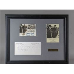 WWII Nazi Hans Baur Pictures and Letter