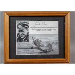 WWII Nazi Luftwaffe Ace Gunther Rall Signed Print