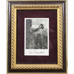WWII Nazi Leni Riefenstahl Autographed Photo