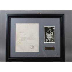 WWII Nazi Luftwaffe Ace Gunther Rall Signed Letter
