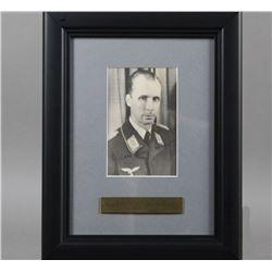 WWII Nazi Luftwaffe Nicholas VonBelow Signed Photo