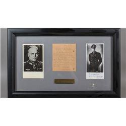 WWII Nazi Hellmuth Reymann Signed Photos & Note