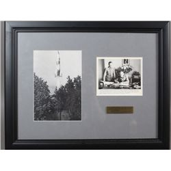 WWII Nazi Walter Dornberger Autographed Photo