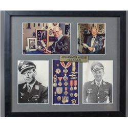 WWII Nazi Johannes Weise Autographed Photos