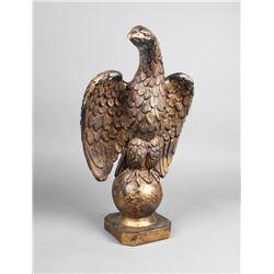 Polychromed Plaster Federal Eagle Sculpture