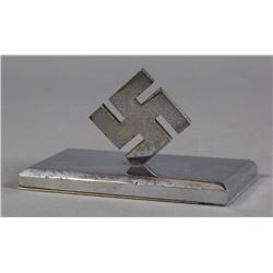 WWII Nazi Swastika Desk Ornament Paper Weight