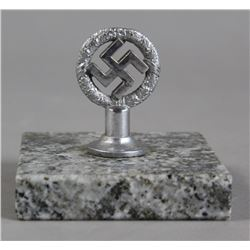 WWII Nazi Wreathed Swastika Desk Paper Weight