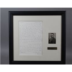 WWII Nazi General J. Braun Signed Letter