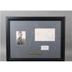 WWII Nazi Erich Dethfelsen Signed Notes