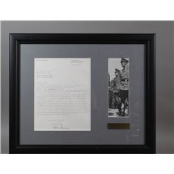 WWII Nazi Arthur Axmann Signed Letter