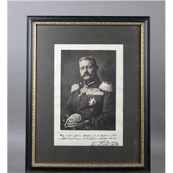 WWI Paulus Von Hindenburg Studio Portrait